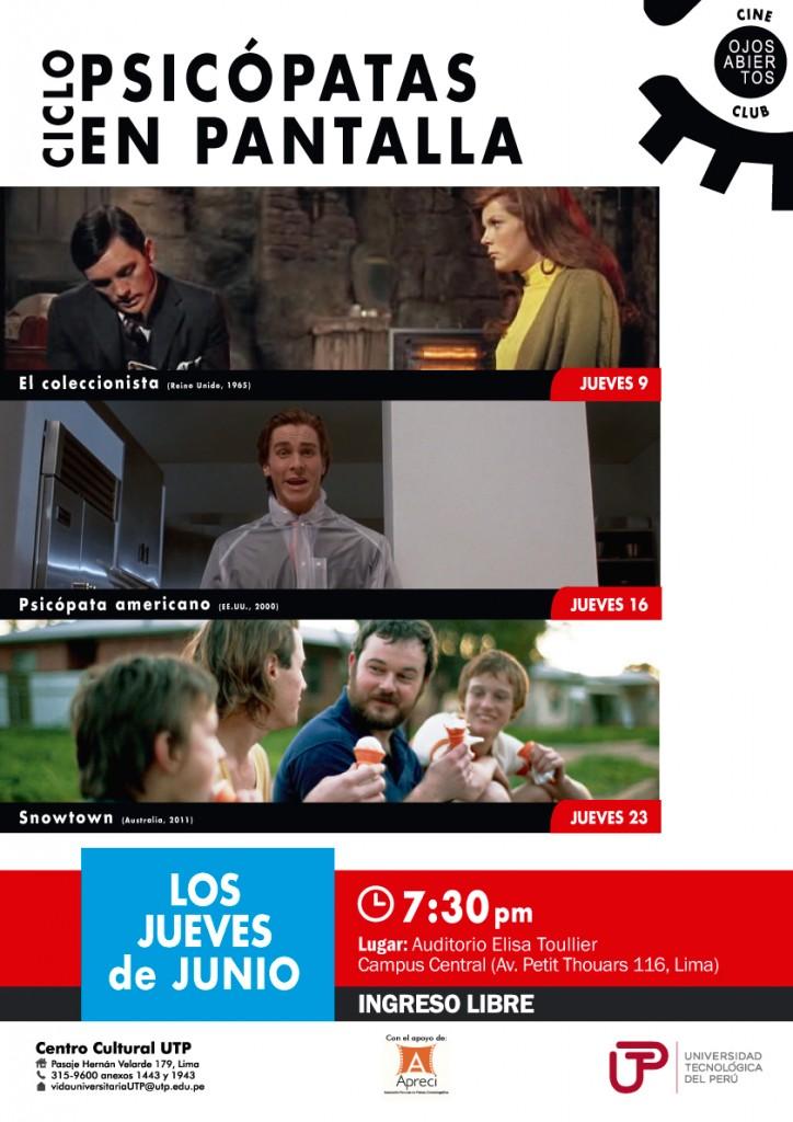Programa Cineclub UTP Junio