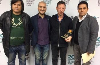 Premiacion APRECI a La luz Incidente como Mejor Pelicula del 20 Festival de Lima